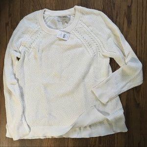 NWT LOFT Off White Knit Sweater M